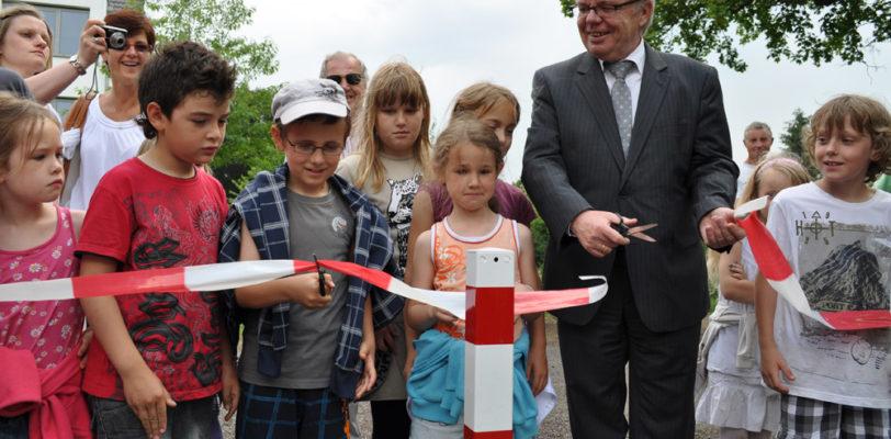 Eröffnung des Spielplatzes am Europaring und Übergabe der Patenschaftsurkunde an den SPD-Ortsverein Magdeburg-Stadtfeld