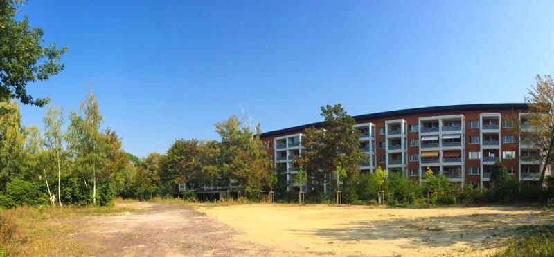 Vorgesehene Fläche für Spielplatz am Olvenstedter Platz