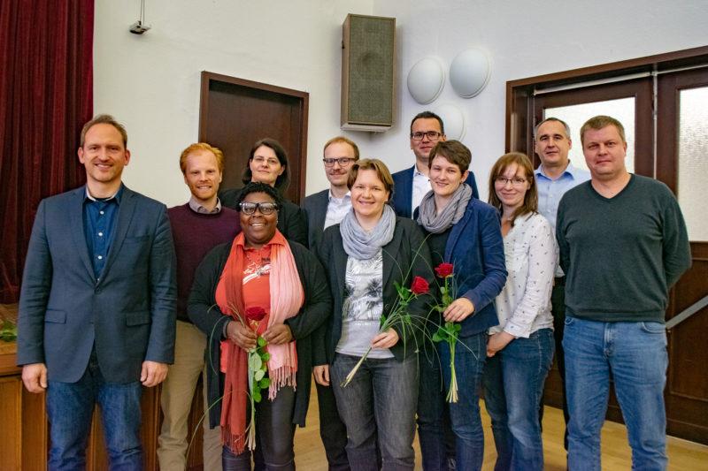 Der neu gewählte Vorstand der SPD Magdeburg: Dr. Falko Grube, Norman Belas, Juliana Gombe, Manuela Lück, Carlo Reifgerste, Steffi Meyer, Paul-Gerhard Stieger, Tina Rosner, Karola Schröder, Jens Rösler, Kai Dethloff