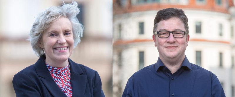 Kornelia Keune und Thomas Opp, Vorsitzende der SPD Stadtfeld