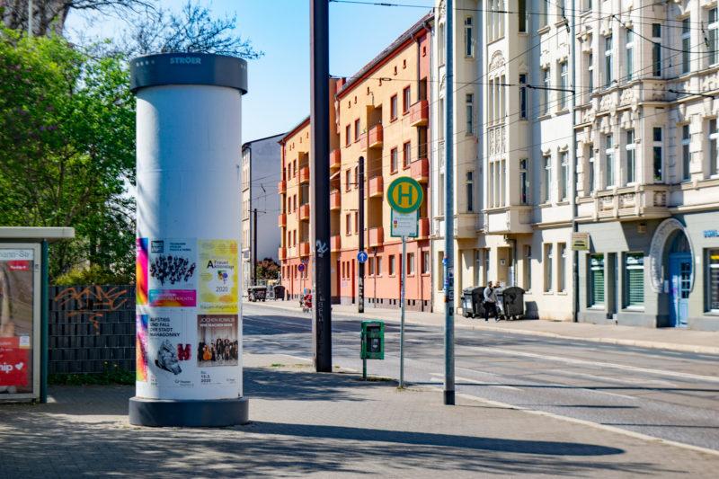 Straßenbahnhaltestelle in der Großen Diesdorfer Straße